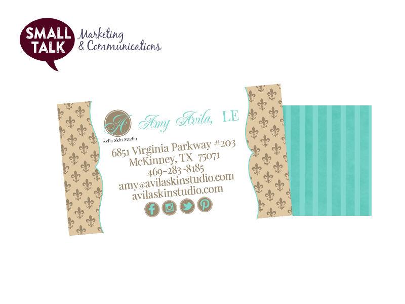 Branding Sample - Avila Skin Studio's Business Card