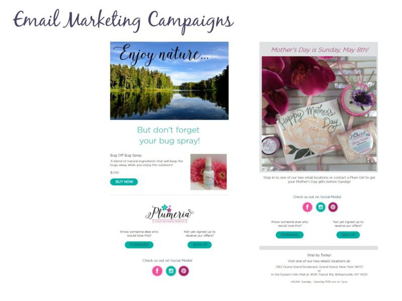 Email Marketing Campaigns - Plumeria