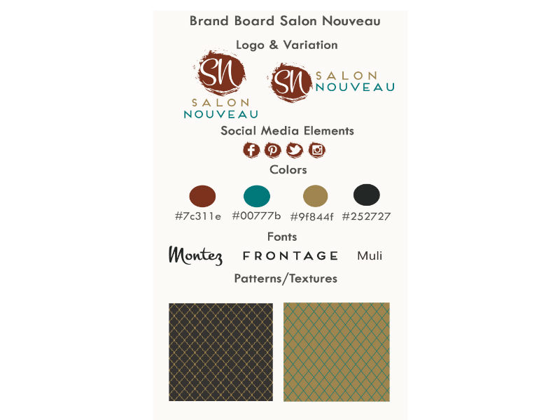 Branding - Salon Nouveau Brand Board