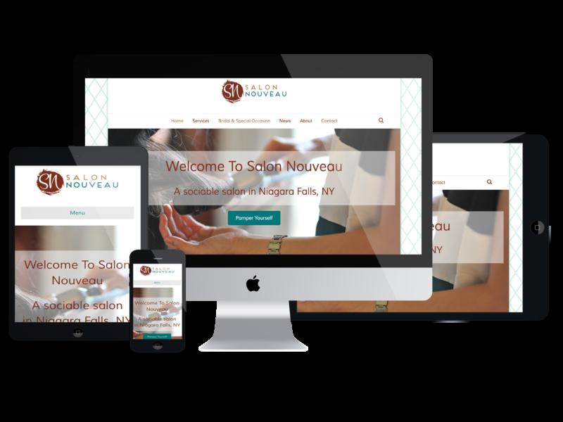 Salon Nouveau - Website Sample