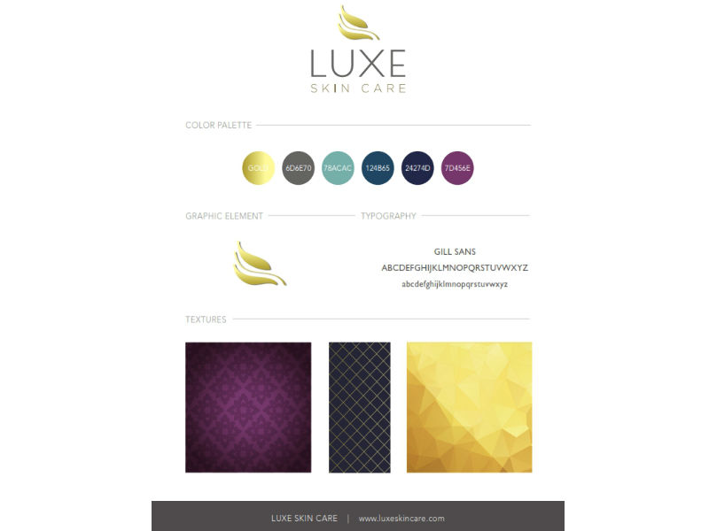 Luxe Skin Care Branding Sample