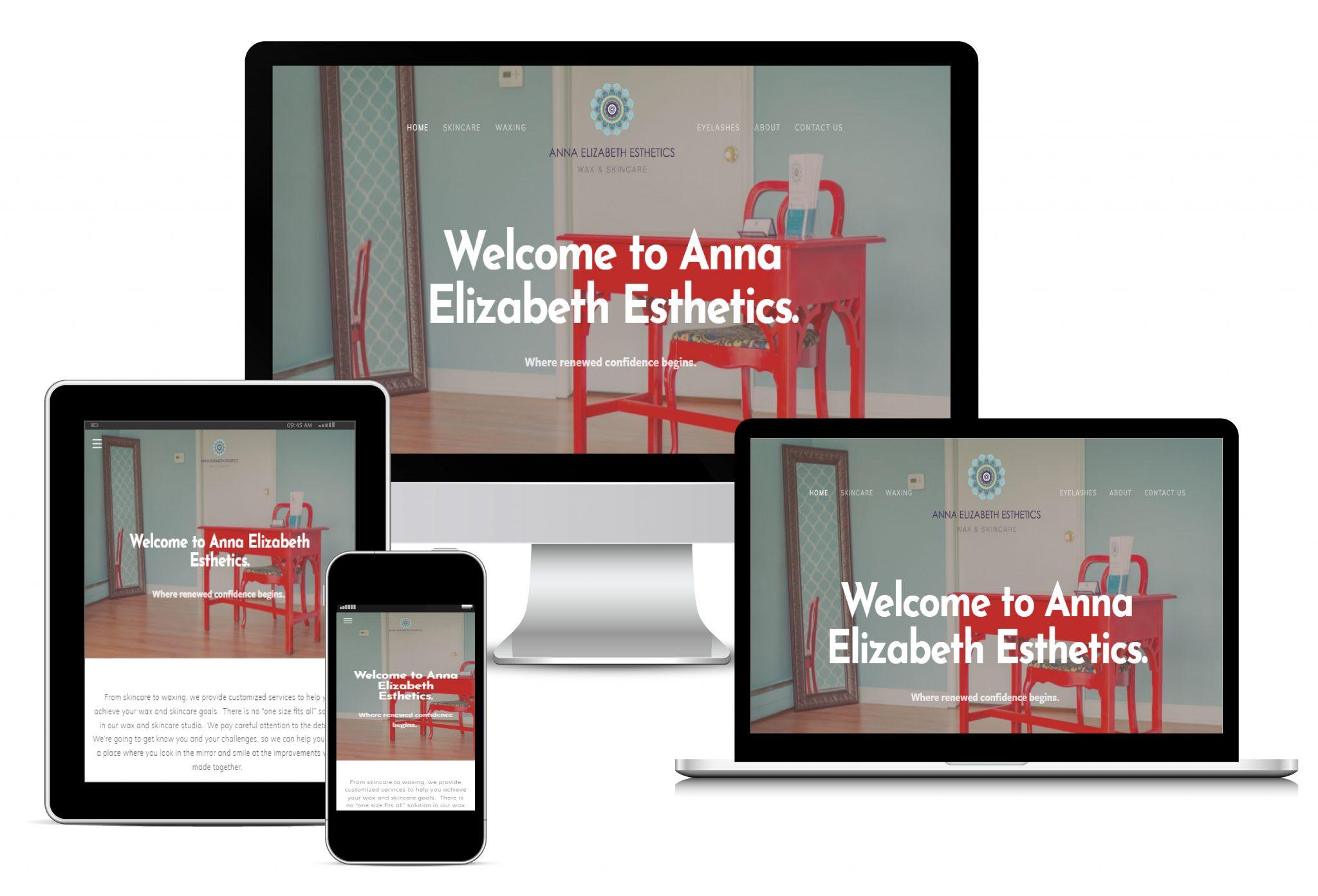 Anna Elizabeth Esthetics Website