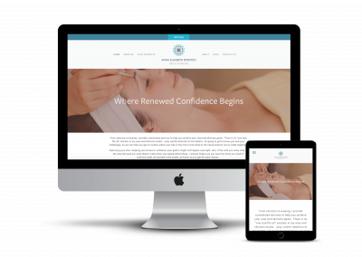 Anna Elizabeth Esthetics Website Design