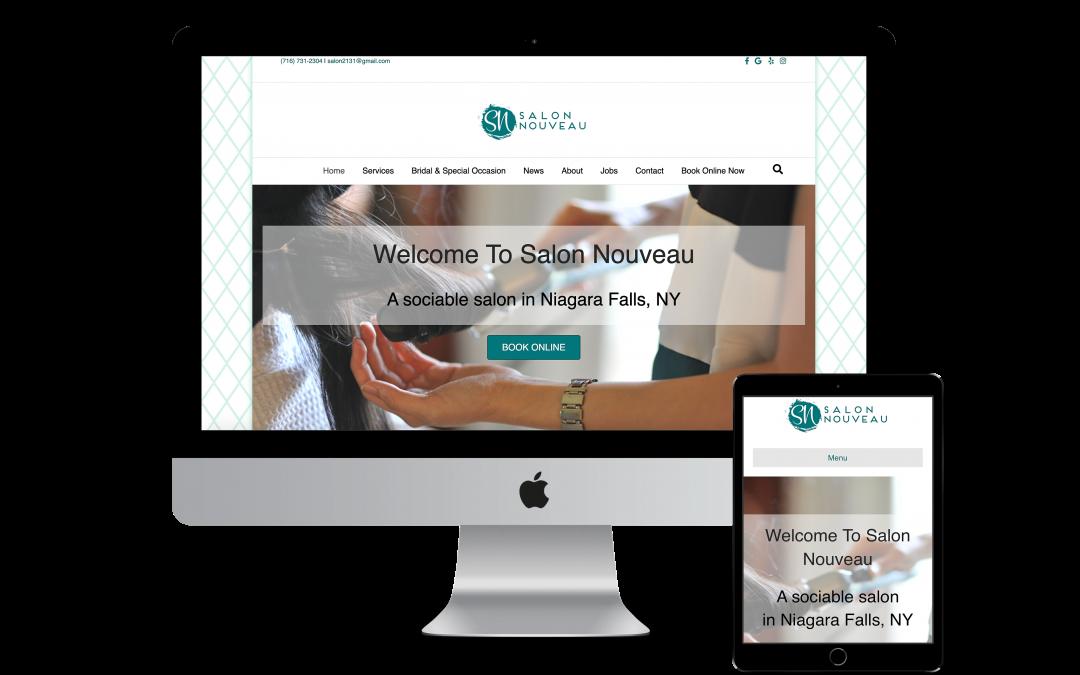 Salon Nouveau Website Design