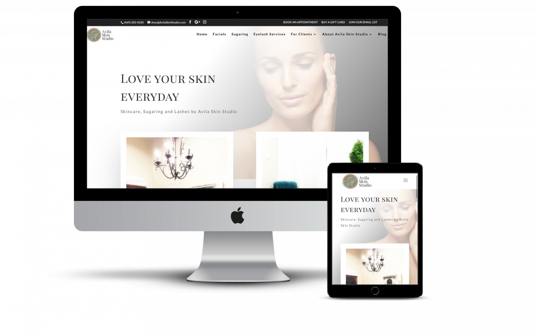 Avila Skin Studio – Website Design Project