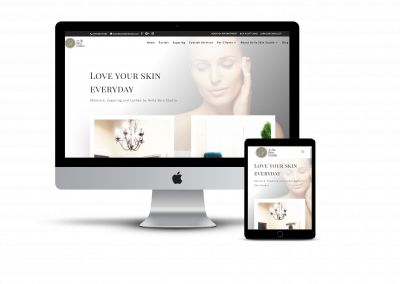 Avila Skin Studio – Website Design Project