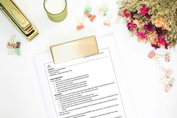 Social Media Cheat Sheet in Use