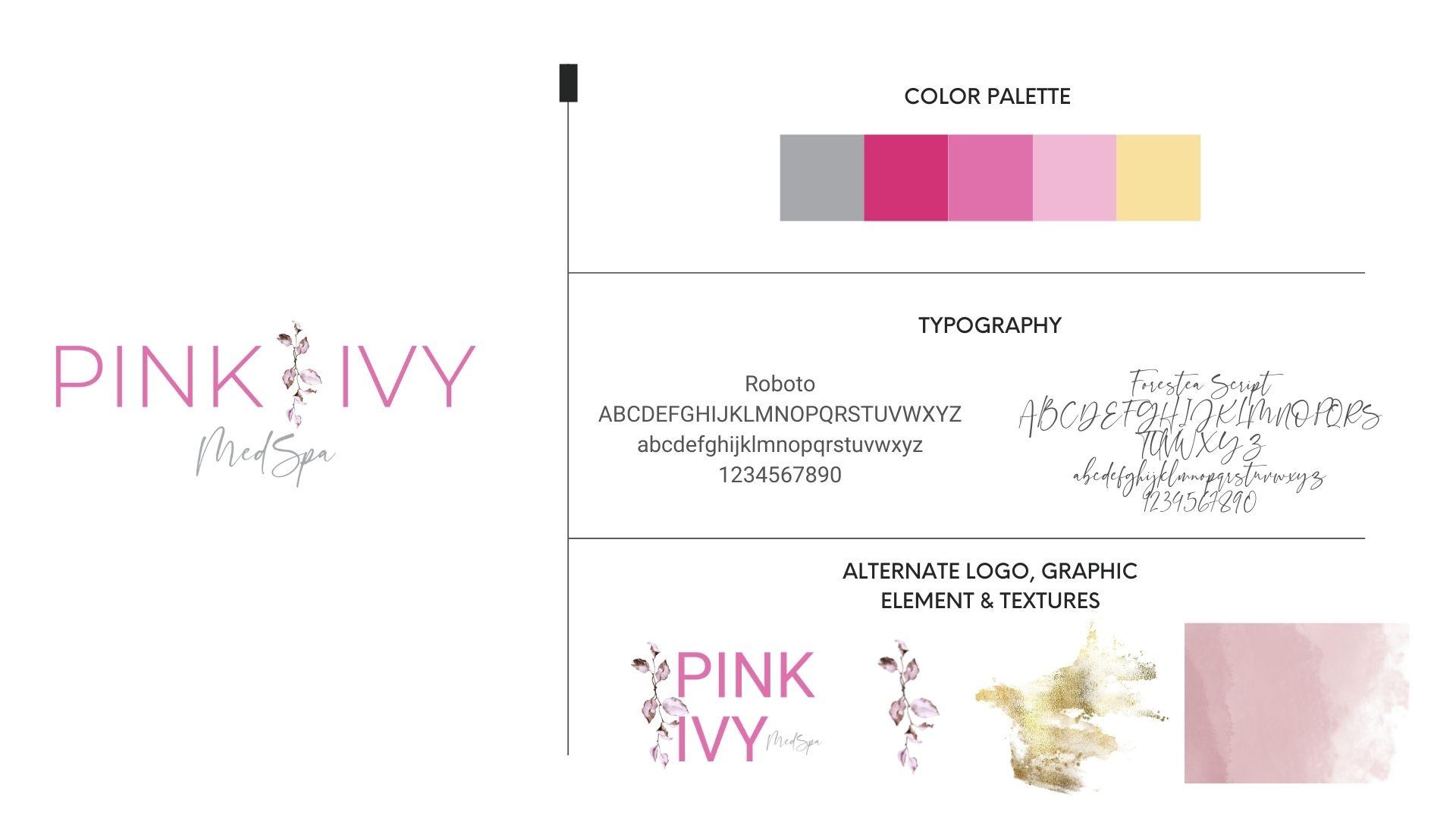 MedSpa logo design for Pink Ivy MedSpa